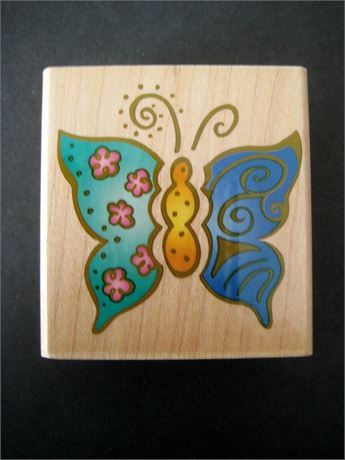 Clean, unused rubber stamp of a whimsical butterfly, free of damage. Wood measures approximately 2-3/8 x 2-1/4 inches, stamp within.   PLEASE NOTE: I ship once a week ONLY as I am currently away on business during the week. Thank you for your consideration. Combined shipping is always available, based on final weight. Shipping cost overages of $2.00 or more will be refunded.   Visit my shop for more great finds: https://www.artyah.com/seller/45northco