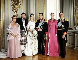 Mary Donaldson and Crown Prins Frederik´s wedding the 14 of may 2004.