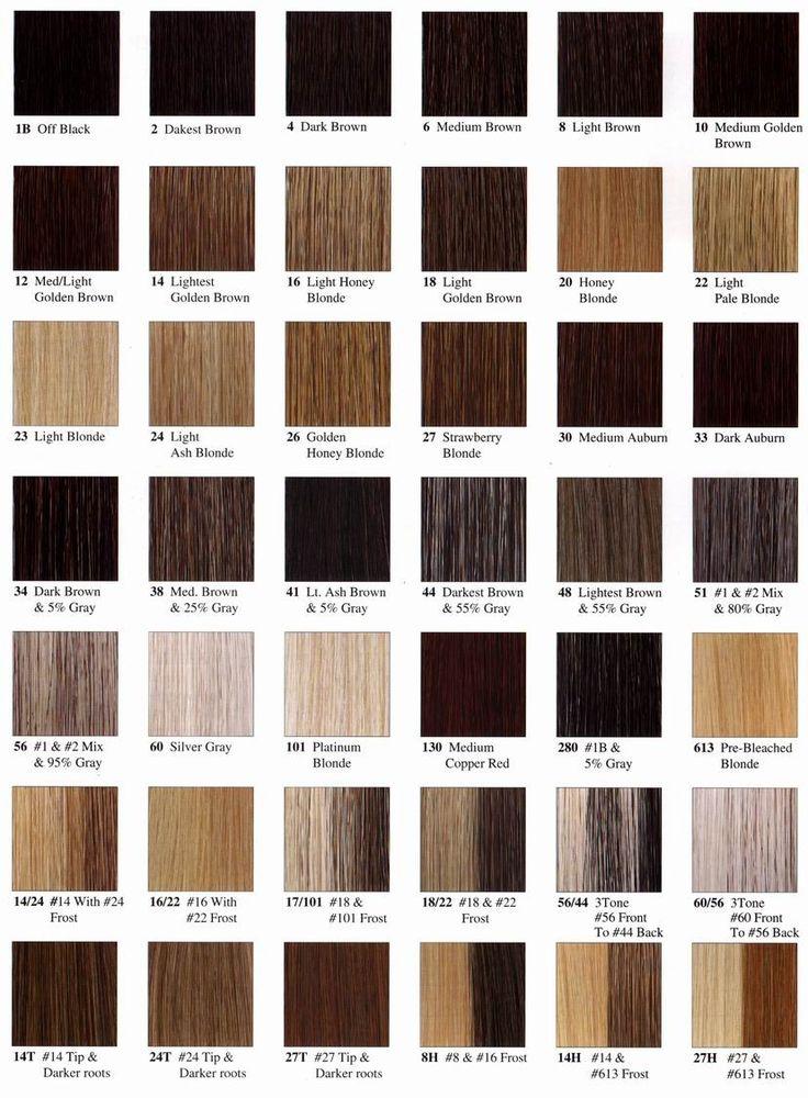 Jon Renau Hair Color Chart