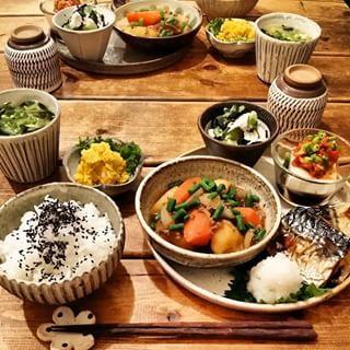 日本人のごはん Japanese meals わあ〜 おいしそ〜(^T^;)