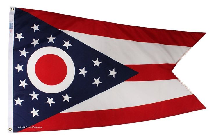 MOFAN 3x5 Foot Flag of Ohio Flag High Quality Durable and Double Stitched-Holiday procession Flags Polyester with Brass Grommet