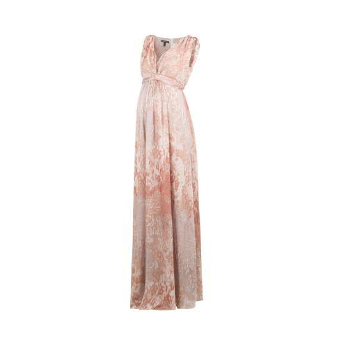 Isabella Oliver Lexington Silk Maternity Maxi Dress -Metallic | Maternity Dresses