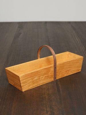 カトラリーボックス 小/萩原英二【zakka土の記憶】木の雑貨