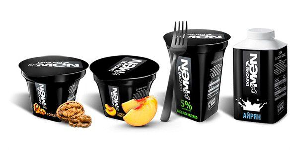 Un yaourt pour hommes lancé en Bulgarie.  La Danone For Men est un nouveau produit  lancé par Danone en juin dernier uniquement disponible en Bulgarie pour le moment. Son packaging noir inhabituel pour un yaourt et son film publicitaire affirment son positionnement bien masculin. Coté recette, ce yaourt est fortement protéinée et pauvre en matière grasse (5%).