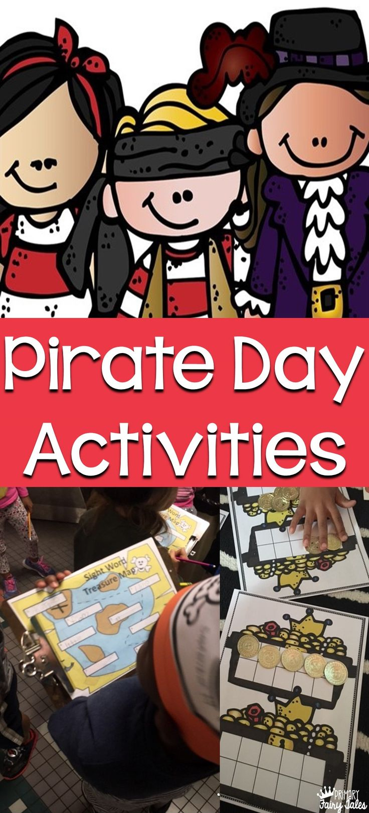 Celebrate National Talk Like a Pirate Day on September 19th!   Fun Pirate Themed Activities Treasure Maps Pirate Centers & More