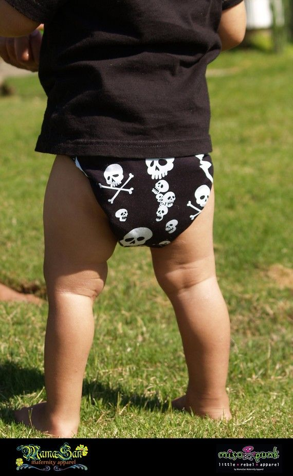 Cool Skull Diaper Covers - Great Idea for my Grandbaby