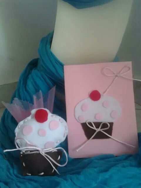 Προσκλητηριο και Μπομπονιερα cupcake