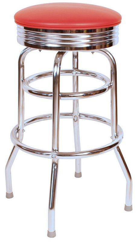 Only $69.00 for this American made Retro Style bar stool.  Get it in any custom color or even send in your own vinyl.