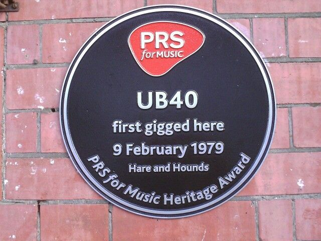 UB40 first gigged at the hare and hounds kings heath.birmingham.