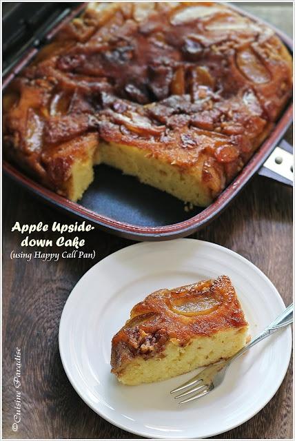 {Happy Call Pan Version} Apple Upside-down Cake