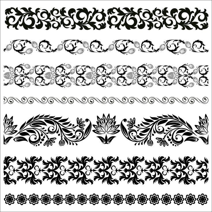 Floral Border Pattern Flowers Vector Vintage Ornamental Design Elements Download PNG Instant Transparent Background Border Clipart Clip Art by SlavGraphics on Etsy