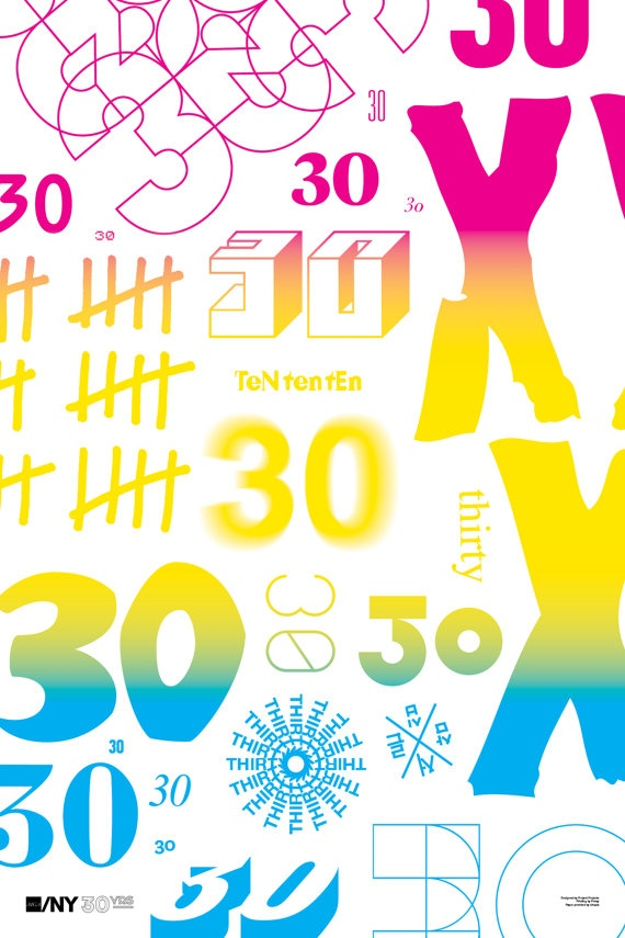 Project Projects AIGA/NY 30th Anniversary Poster by AIGANY on Etsy, $50.00: Limited Editing Posters, 30Th Anniversary, Picture-Black Posters, Projects Aiga Ni, Aigani 30Th, 30Th Anniversaries, Aiga Ni 30Th, Limitededit Posters, Anniversaries Posters