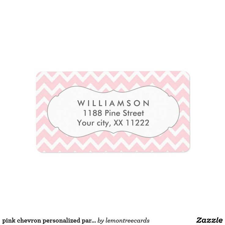 pink chevron personalized party favor tags This design is available on many items in our store. Just ask the designer if you need help with personalization or need this design on another item.