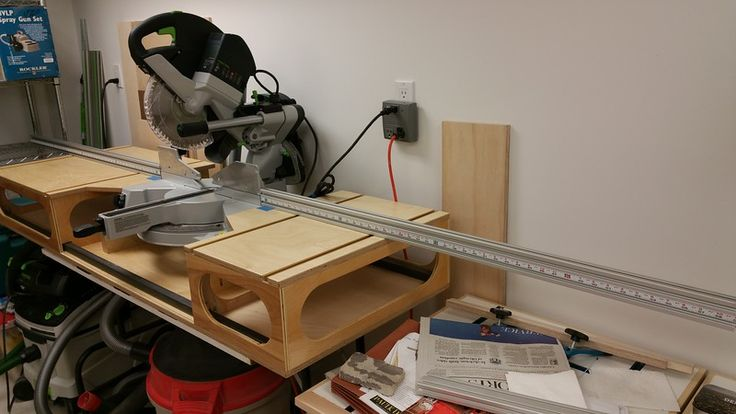 Modified Paulk Mft Workbench And Miter Saw Stand Festool Jigs And Tool Enhancements