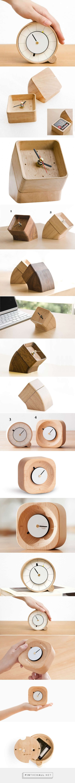 Wooden  Desk Clock  - FeelGift - created via https://pinthemall.net