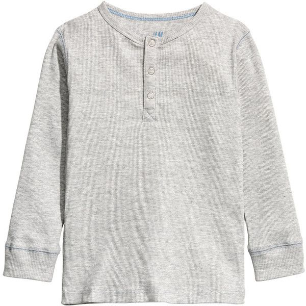 Ribbed Henley Shirt $9.99 ($9.99) ❤ liked on Polyvore featuring tops, jersey shirt, long-sleeve henley shirts, long sleeve jersey shirt, long sleeve jersey and henley shirts