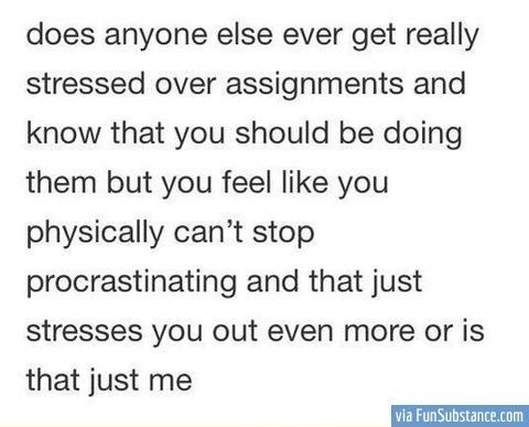 Why am i so stressed when doing essays?