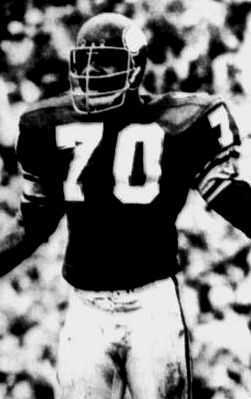 """http://ift.tt/2qpY2vi that Jim """"Wrong Way"""" Marshall the defensive end of Minnesota Vikings (NFL) on October 25 1964 in a game against San Francisco 49ers after picking a fumbled ball ran 66 yards the wrong way to his own end zone. It is called the most embarrassing episode in NFL history."""
