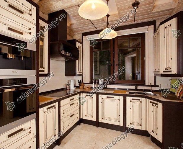 Реконструкция дома из лиственницы 2012 год. Кухня.
