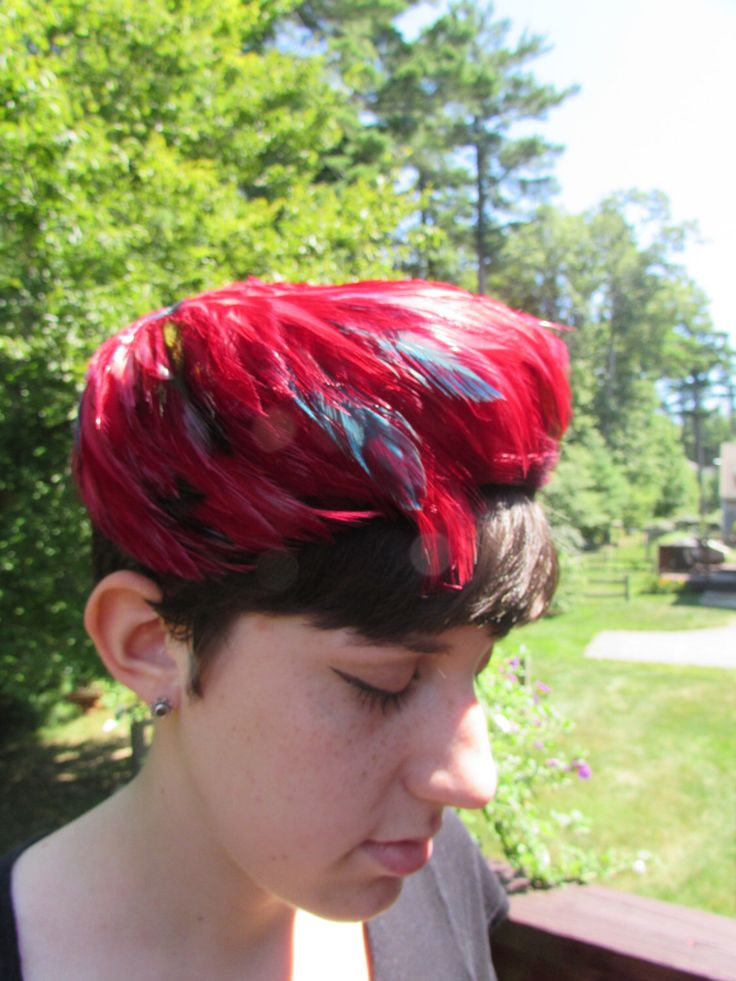 A personal favorite from my Etsy shop https://www.etsy.com/listing/200110050/feather-fascinator-pillbox-hat-fuchsia
