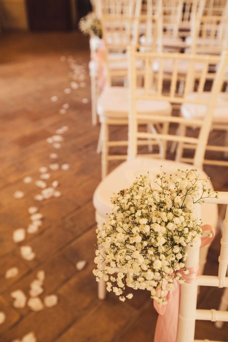 Wedding Ceremony Flowers   Wedding Ceremony Decor   Baby's Breath Wedding   Aisle Petals   Rustic Wedding Ceremony Decor   Italian Wedding Style