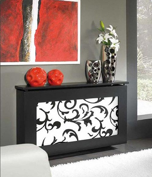 Radiator covers are a great way to accessorize and hide radiators. Great selection of covers - read more here http://decoratedlife.com/radiator-covers-great-accent-wall-feature/