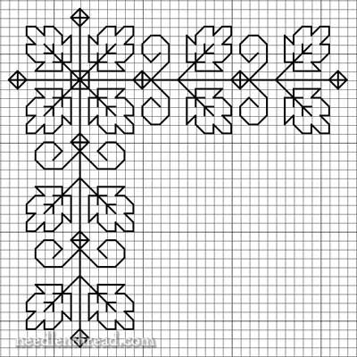 Free Blackwork Design: Autumn Leaves on a Corner    here is a leafy corner, just…