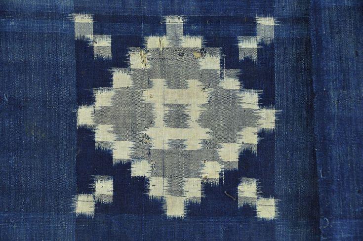 Example of warp and weft kasuri fabric. || ClothRoads