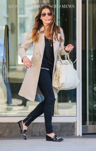 'Nailed' actress Jessica Biel is all smiles as she heads out for an espresso in New York City, New York on April 12, 2014.