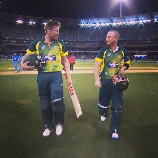 """He's done it again James Faulkner!"" - Slats. He's got Australia over the line! AUS 6/269. #AUSvIND #WWOS"