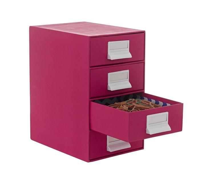 Drawers 4 high pink