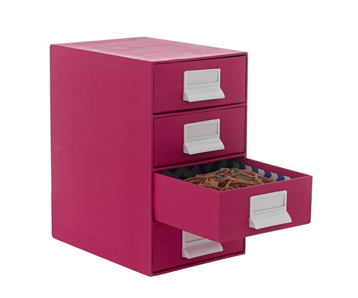 Drawers 4 high pink