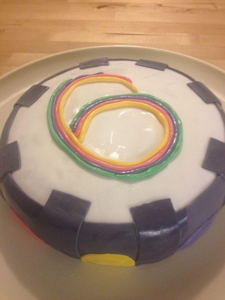Portal-taart, voor een 6-jarige skylanderfan!