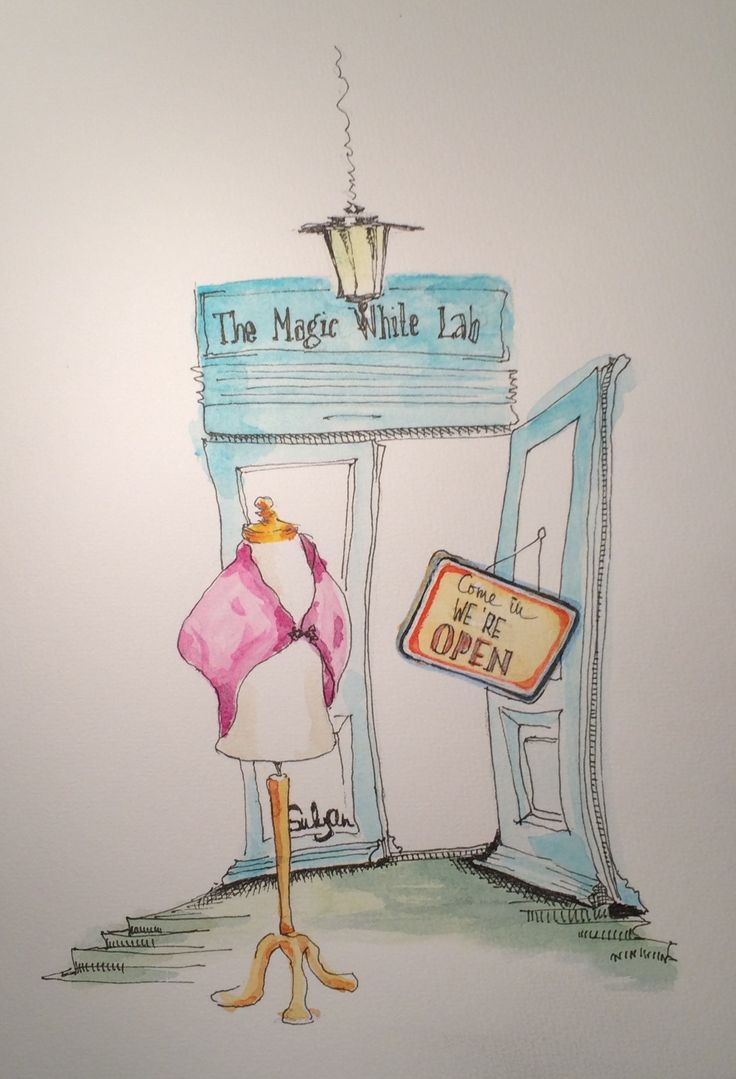 The magic white lab #sketches