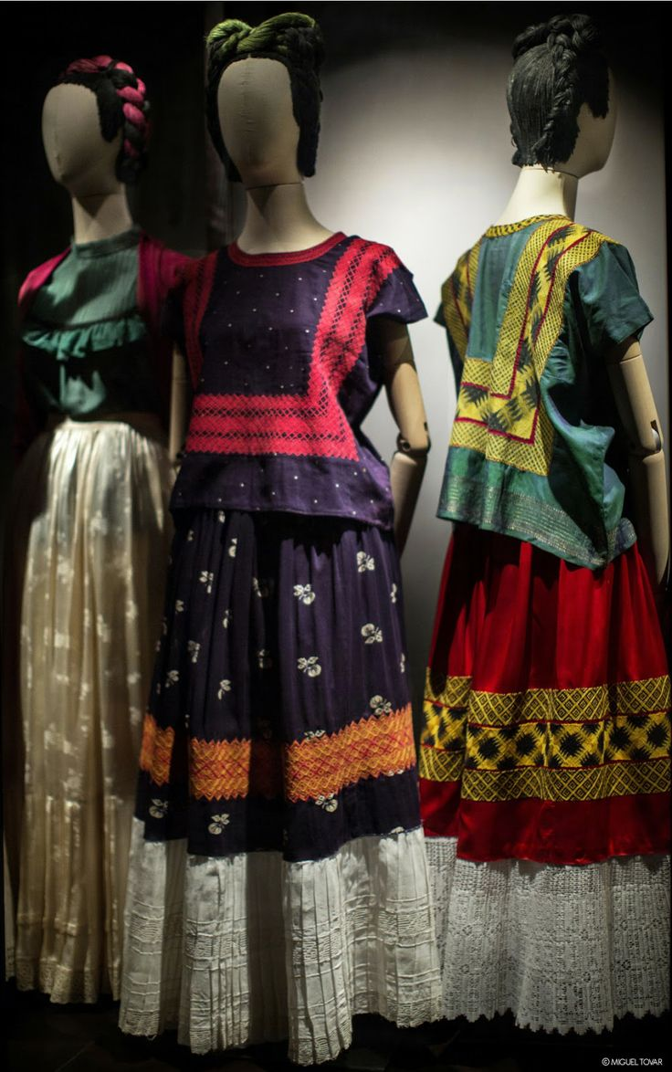 Some of #Frida Kahlo gorgeous dresses, how did she #adorn them? LitanyJewelry would have loved to #custom design a piece for her, and we are more than happy to do one for you! Come see what inspires you... www.litanyjewelry.com