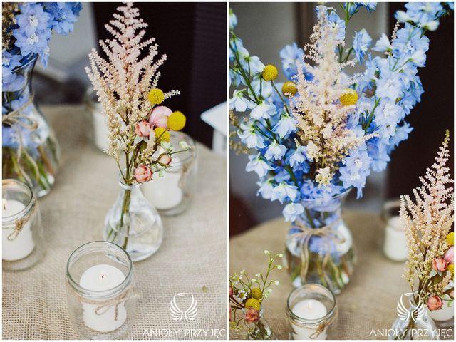 Electrical Wedding,Rustic centerpieces,Field Flowers   Elektryczne wesele,Rustykalne kompozycje,Polne kwiaty,Anioły Przyjęć