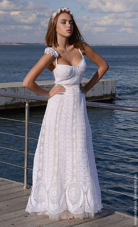 Только счастье, только любовь!! - белый,свадебное платье,вязаное платье крючком