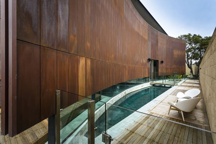 #architecture #homedesign #glass #timber #natural #tasmania #pool #fence