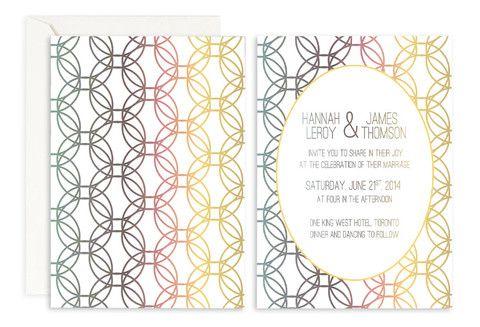 Prismatic Halos Wedding Invitation– Jo's Paperie #wedding #invitations #floral #template