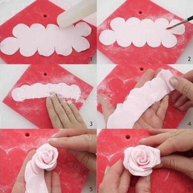 3Pcs/Set DIY Rose Flower Cake Mold Cookie Cutter Fondant Cake Decorating Tools Sugarcraft Cutter Cake Baking Kitchen Tool
