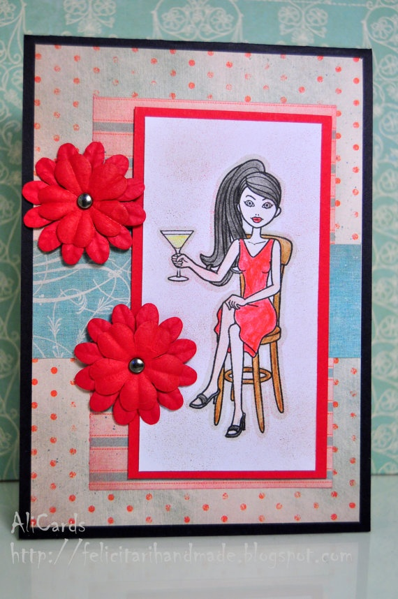 Cheers to you by AliCards on Etsy, $5.00