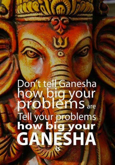 I just need to establish that although I do not have a personal relationship with Ganesha, this is FABULOUS.