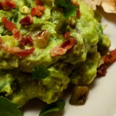 Guacamole with Bacon, Grilled Ramps (or Green Onions), and Roasted To ...