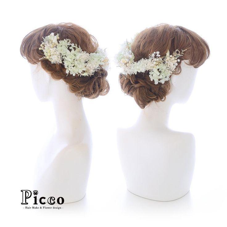 .  🌸 Gallery 651 🌸  .  【 結婚式 #髪飾り 】  .  #Picco #オーダーメイド髪飾り #カラードレス #結婚式  .  カラードレスのお色に合わせて、ミントグリーンのプリザの小花とかすみ草で盛り付けた、ナチュラルな雰囲気とふんわり感がたまらなく可愛い髪飾りです💚💛💖 ✨. #プリザーブドフラワー  #かすみ草  #ハイドランジア  #ナチュラル  #ウェディングヘア  .  デザイナー @mkmk1109  .  .  .  #ボタニカル #ヘッドアクセ #ヘッドドレス #花飾り #造花  #ドレスヘア #披露宴 #パーティー #プレ花嫁 #花嫁  #ウェディングフォト #結婚式前撮り #結婚式準備 #ドレス #プレ花嫁  #ウェディング #ウェディングアイテム #ミントグリーン #ふんわり感    #natural #flower