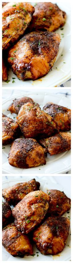 Spicy Smoked Chicken Thighs - Recipe Diaries #smoked