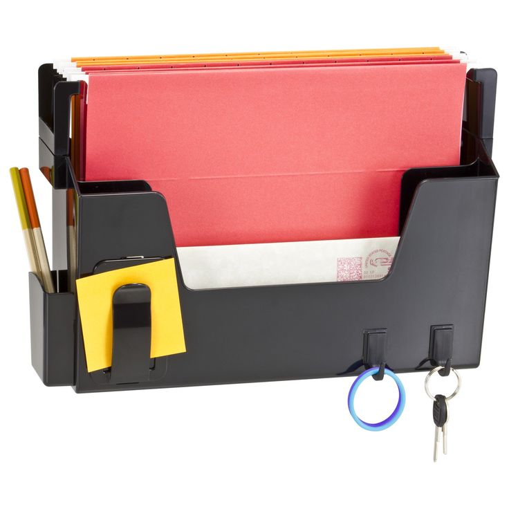 officemate oic versa plus letter size wall file organizer black