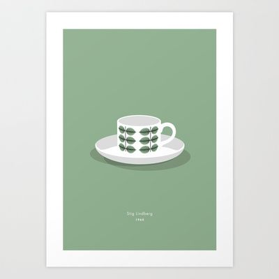 Berså coffee cup Art Print by bittersweat - $20.00