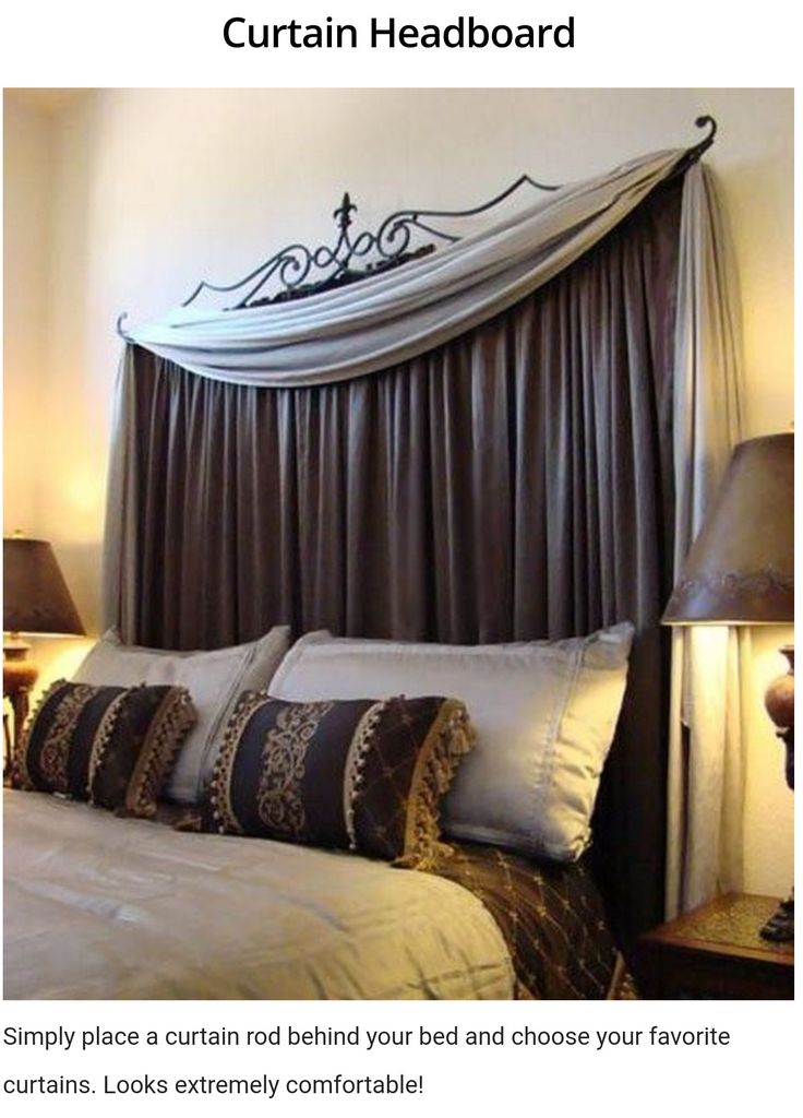 Best 20 Curtain headboards ideas on Pinterest  Curtain