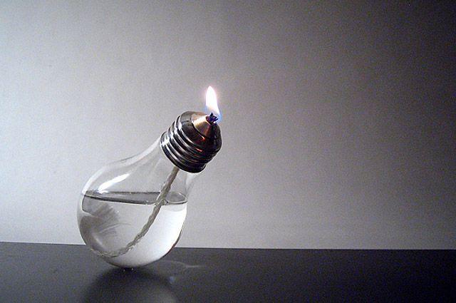 The Future Retro Lightbulb Oil Lamp by Sergio Silva