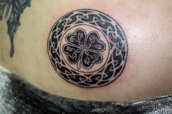 Four Leaf Clover Tattoos From: TattoosWin.com/